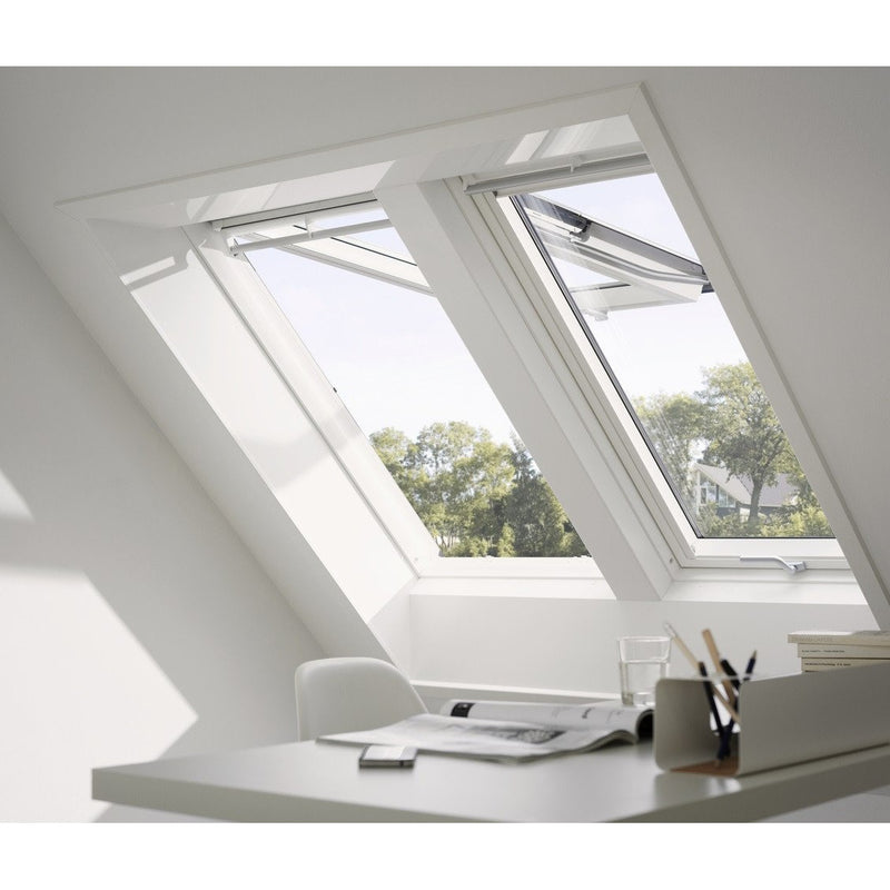 VELUX GPU SK06 0062 Triple Glazed & Noise Reduction White Top-Hung Roof Window (114 x 118 cm)