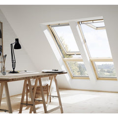 VELUX GPL FK06 3060 Noise Reduction Pine Top-Hung Window (66 x 118 cm)
