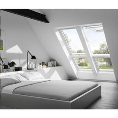 VELUX GPL SK08 2070 White Painted Top-Hung Window (114 x 140 cm)