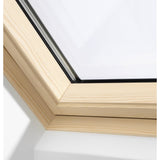 VELUX GGL SK08 3062 Triple Glazed & Noise Reduction Pine Centre-Pivot Window (114 x 140 cm)