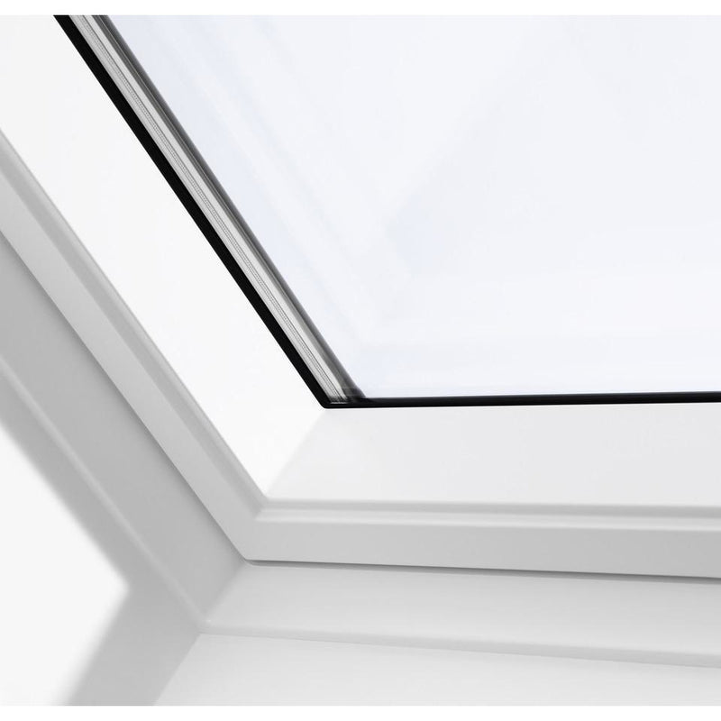 VELUX GPU FK08 0062 Triple Glazed & Noise Reduction White Top-Hung Roof Window (66 x 140 cm)