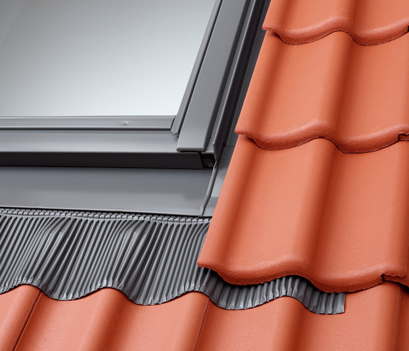 VELUX EDJ 0000 Flashings - Recessed installation in tiles up to 90mm in profile