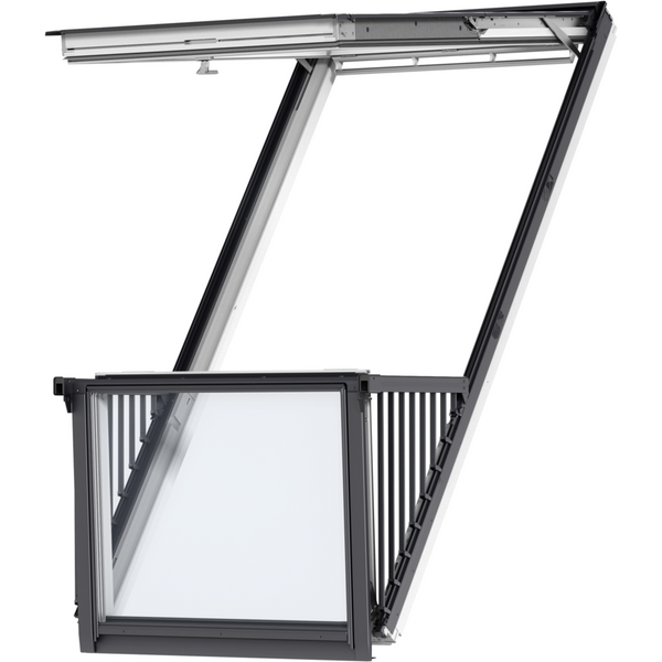 velux gdl pk19 sd0w001 white painted cabrio balcony 94 x. Black Bedroom Furniture Sets. Home Design Ideas