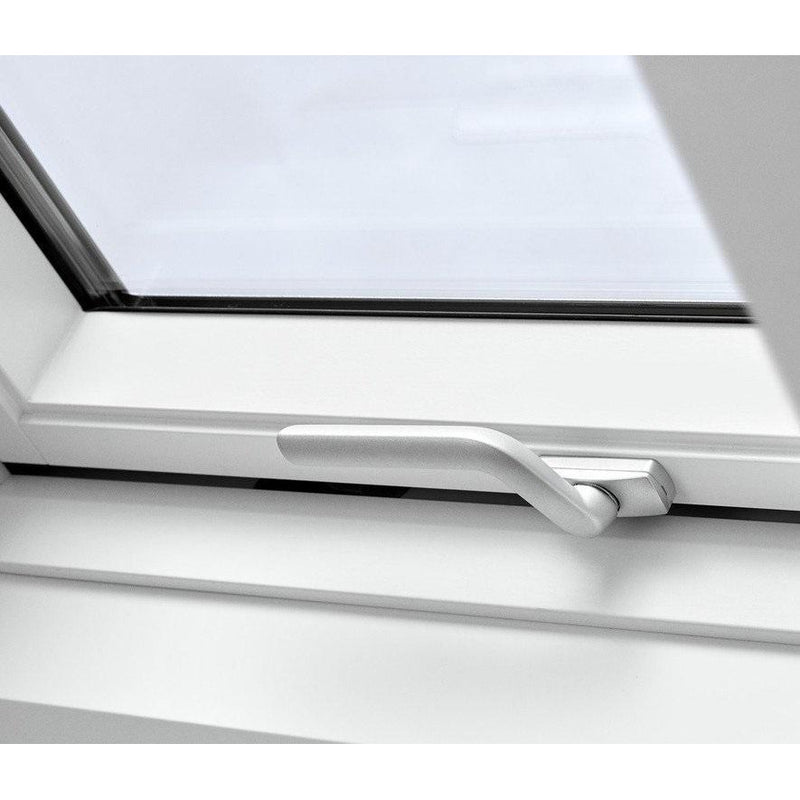 VELUX GPU FK08 0070 White Polyurethane Top-Hung Window (66 x 140 cm)