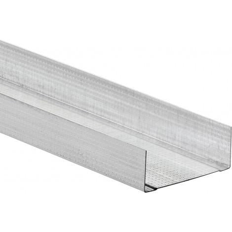 Metal Deep Track for Partition Systems - 62mm x 3m