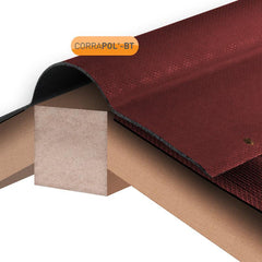 Corrapol-BT Corrugated Bitumen Ridge 1000mm - Red
