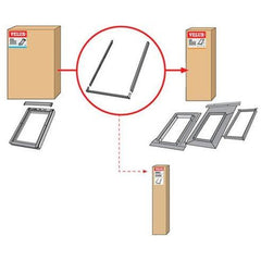 VELUX ZWC 0000T Window Profile Set (For use with on site flashing)