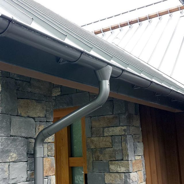 Lindab Majestic Galvanised Steel Downpipe - 75mm x 3m