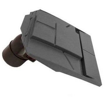 Ubbink UB37 In-Line Plain Tile Vent with 100mm Pipe - Anthracite