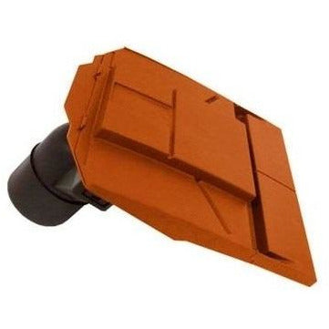 Ubbink UB37 In-Line Plain Tile Vent with 100mm Pipe - Terracotta