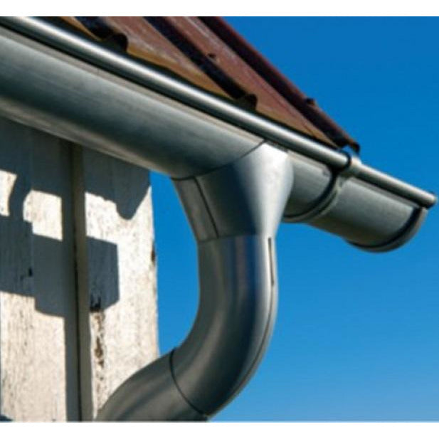 Lindab Majestic Galvanised Steel Gutter Outlet