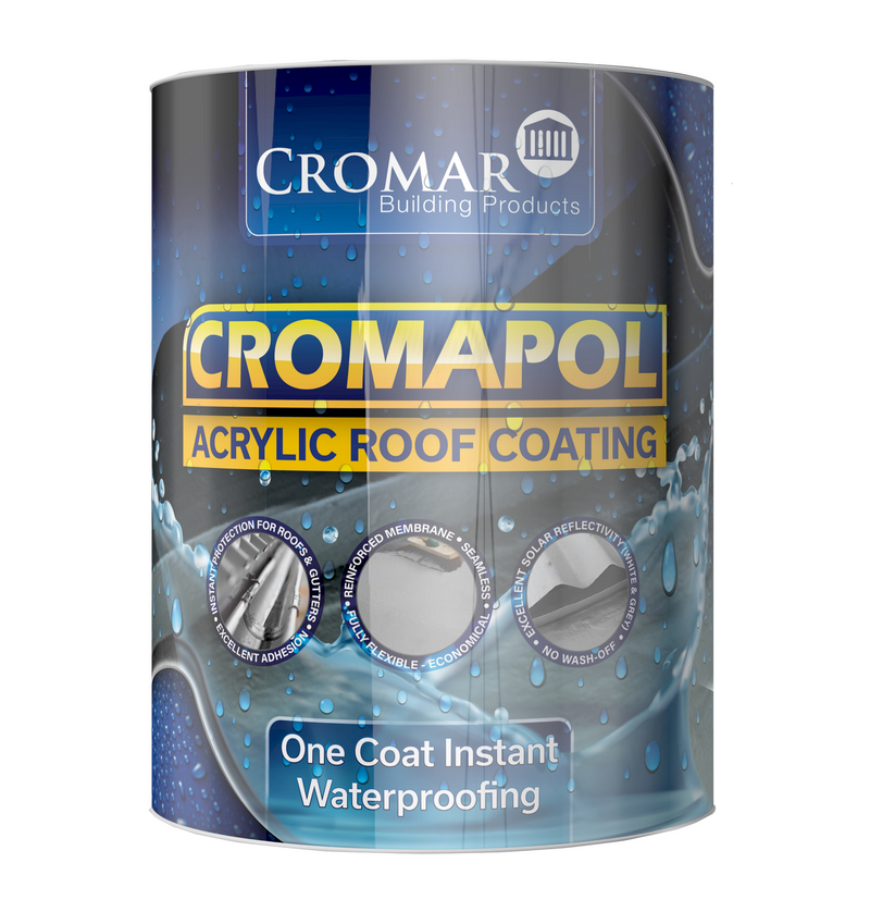 Cromapol Acrylic Waterproof Roof Coating - 5kg Grey