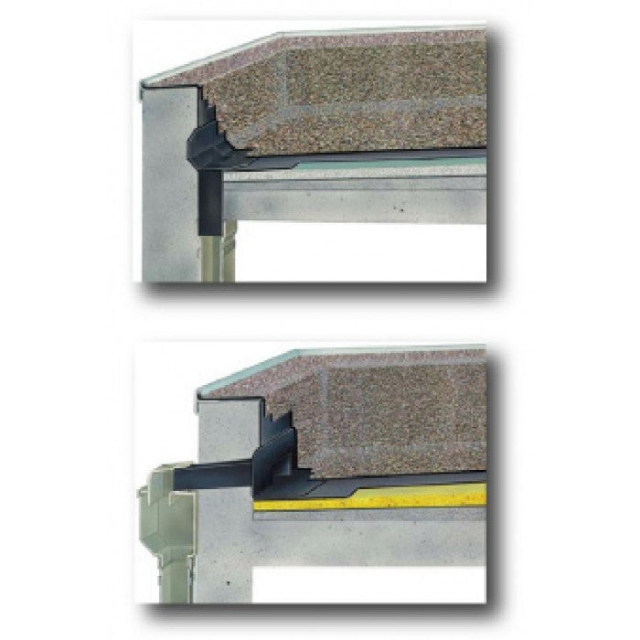EDPM Horizontal Rain Outlet - 100mm