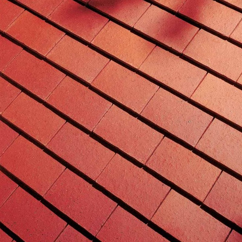 Dreadnought Clay Plain Roof Tiles - Plumb Red