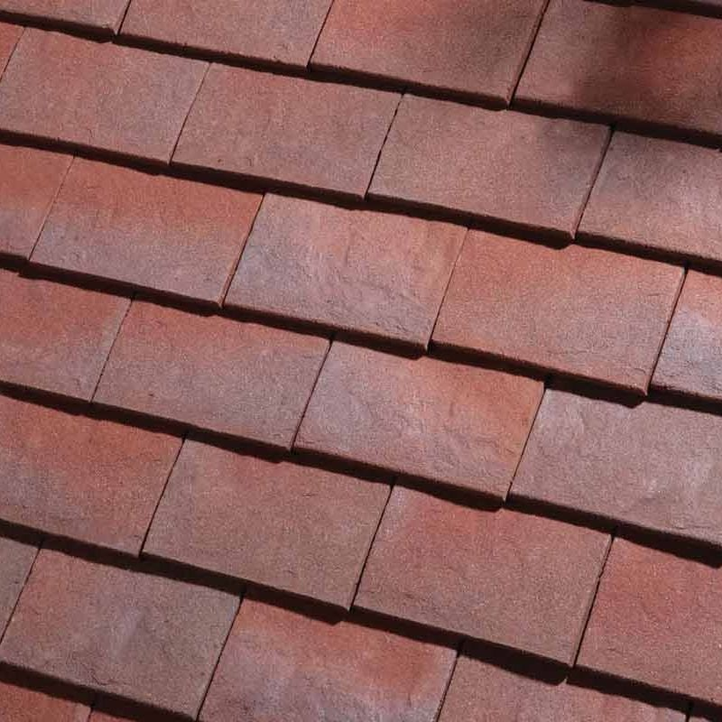 Dreadnought Clay Plain Roof Tiles - Classic Handmade Purple Brown
