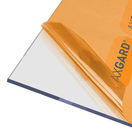 AXGARD® UV Protected Clear Solid Polycarbonate Sheets - 4mm