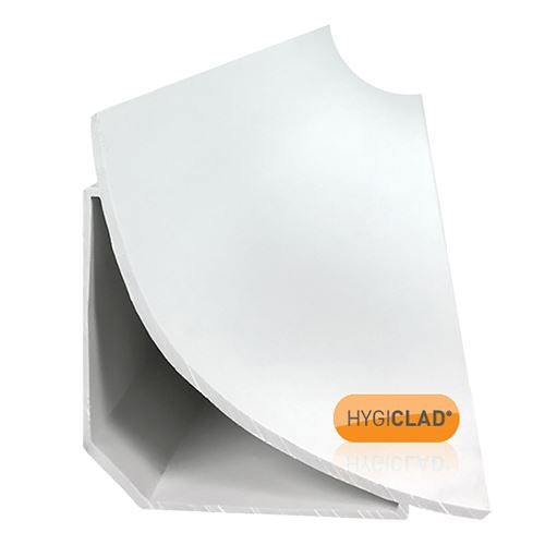 HYGICLAD® 75mm Covering Trim White - 3050mm