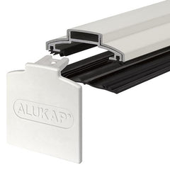ALUKAP®-XR Aluminium Glazing Bar with End Cap - 60mm