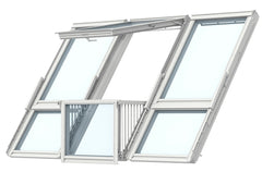 VELUX GDL PK19 SK0L322 White Painted Cabrio® Balcony (302 x 252 cm)