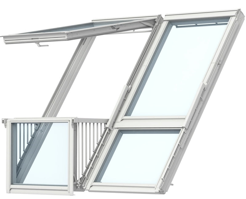 VELUX GDL SK19 SK0L222 White Painted Cabrio® Balcony (238 x 252 cm)