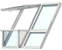VELUX GDL PK19 SK0W224 White Painted Cabrio® Balcony (198 x 252 cm)