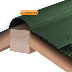 Corrapol-BT Corrugated Bitumen Ridge 1000mm - Green
