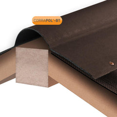 Corrapol-BT Corrugated Bitumen Ridge 1000mm - Brown