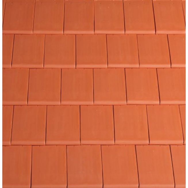 Planum Clay Interlocking Low Pitch Roof Tile 10° - Red
