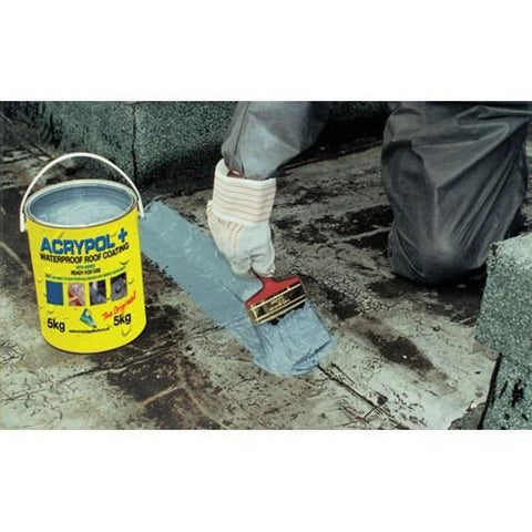 Acrypol Waterproof Roof Coating 20kg Grey Roofing Outlet