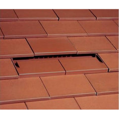 Ubbink UB37 In-Line Plain Tile Vent with 100mm Pipe - Sepia