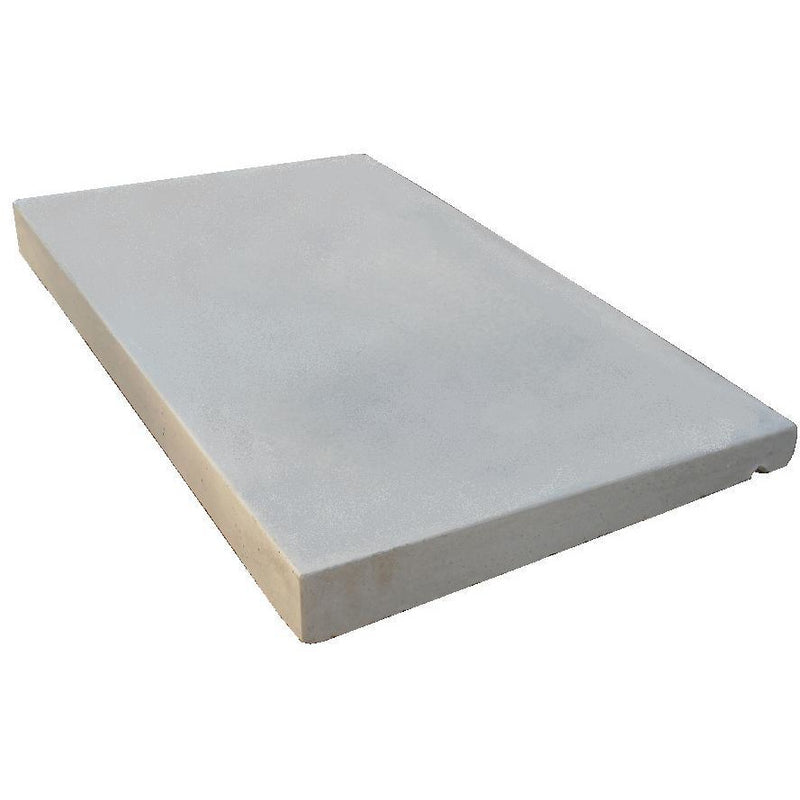 Castle Composites Single Weathered Coping Stones 600 x 375mm - Light Grey