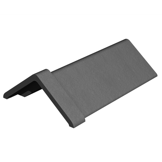 Marley Clay Capped Angle Ridge 450mm - Slate Black