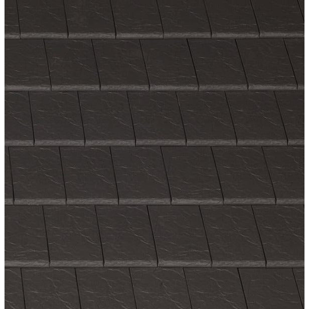 Planum Clay Interlocking Low Pitch Roof Tile 10° - Blackstone Riven