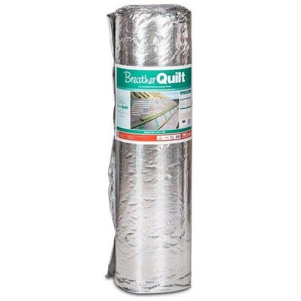 YBS BreatherQuilt 2-In-1 Multifoil Breathable Insulation Roll - 1.2m x 10m (12m2)