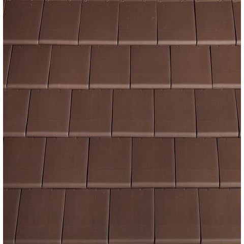 Planum Clay Interlocking Low Pitch Roof Tile 10° - Brown