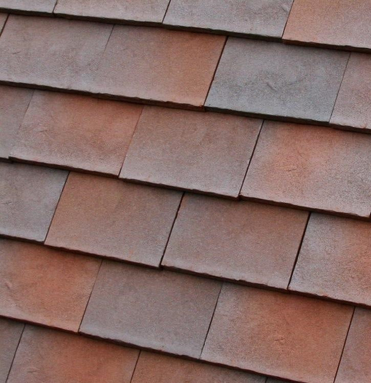 Dreadnought Clay Plain Roof Tiles - Rustic Brown Antique