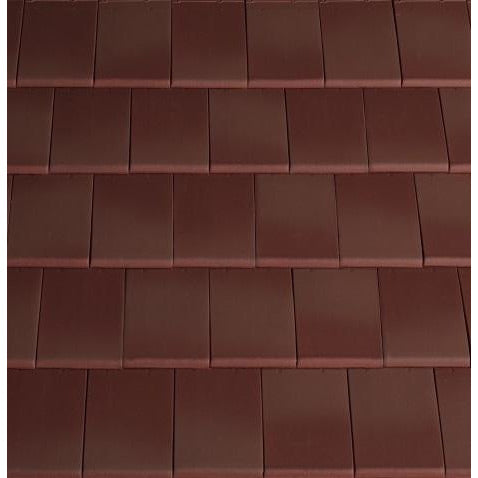 Planum Clay Interlocking Low Pitch Roof Tile 10° - Burgundy