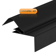 Corrapol-BT Rock n Lock Verge with Fixings - Black