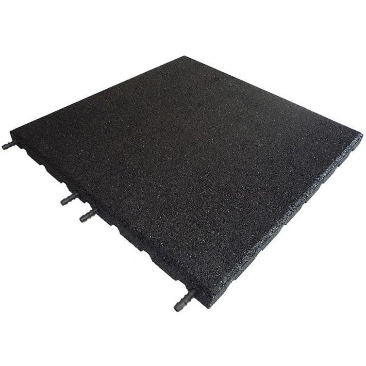 Castle Composites Castleflex Rubber Promenade Tiles - Carbon Black