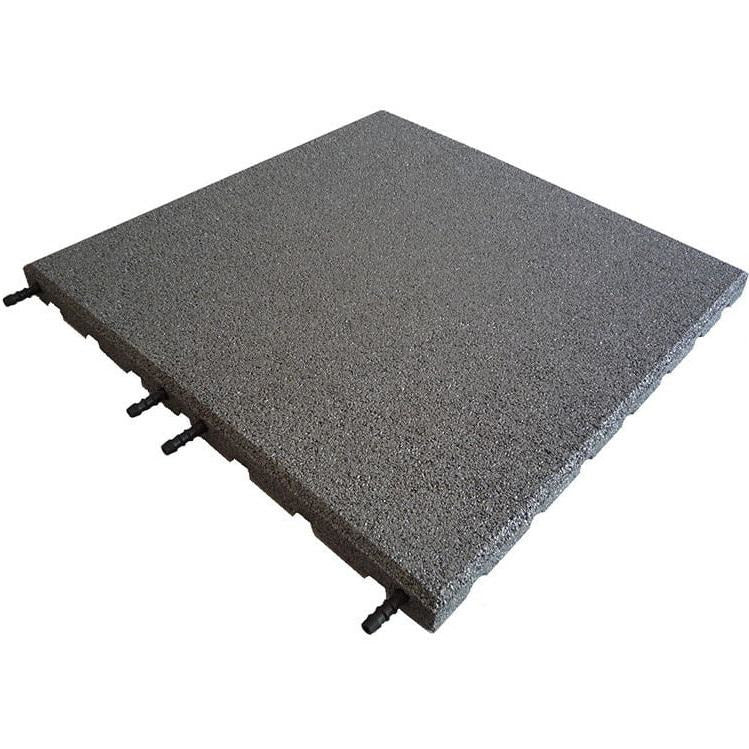 Castle Composites Castleflex Rubber Promenade Tiles - Charcoal Grey
