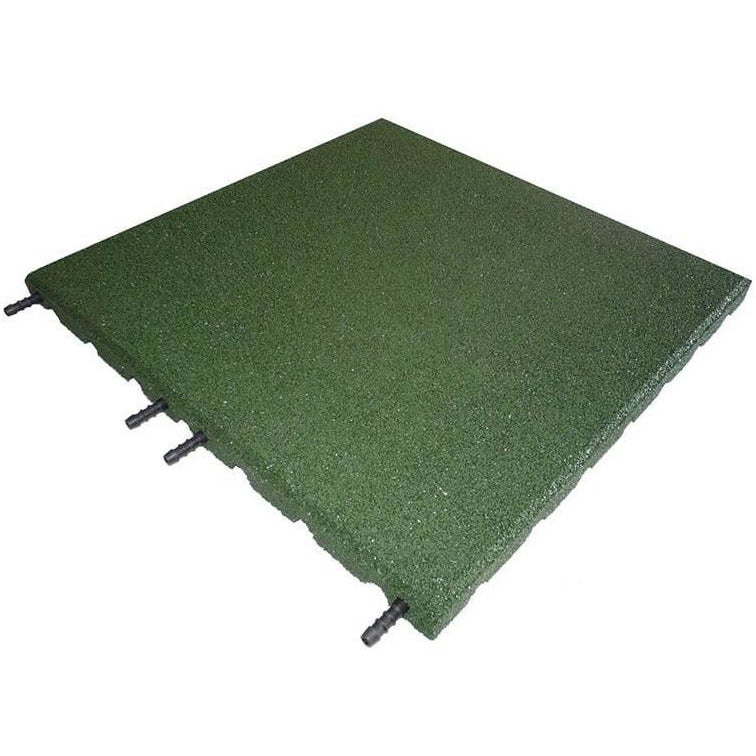 Castle Composites Castleflex Rubber Promenade Tiles - Forest Green