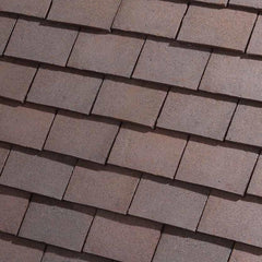 Dreadnought Clay Plain Roof Tiles - Classic Handmade Dark Heather