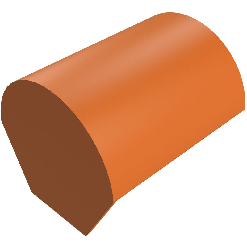 Sandtoft Clay Half Round Ridge with Stop End - 305mm