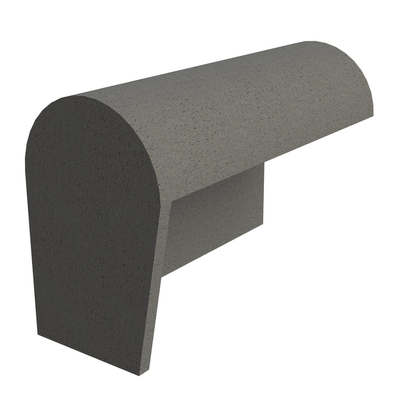 Sandtoft Concrete Half Round Mono Ridge Block End - Left Hand