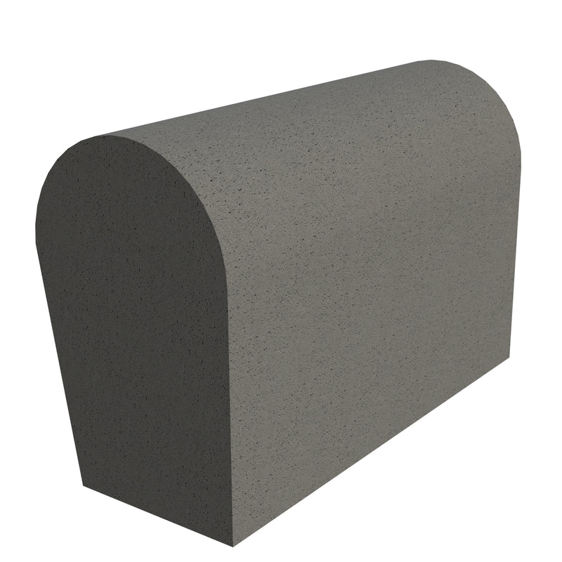 Sandtoft Concrete Half Round Mono Ridge Block End - Right Hand