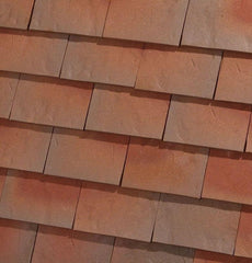 Dreadnought Clay Plain Roof Tiles - Rustic Country Brown