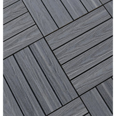 Castle Composites Castlewood Decking Tiles - Silver Grey (600 x 300 mm)