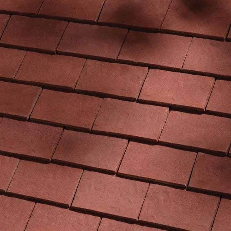 Dreadnought Clay Plain Roof Tiles - Classic Handmade Deep Red