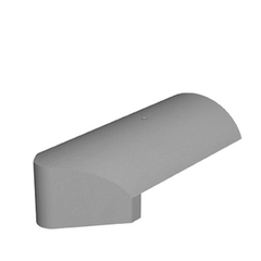 Marley Concrete Third Round Stopend Hip Tile