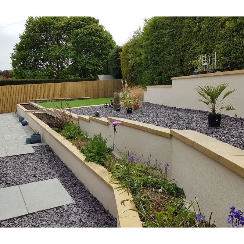 Castle Composites Single Weathered Coping Stones 600 x 300mm - Buff